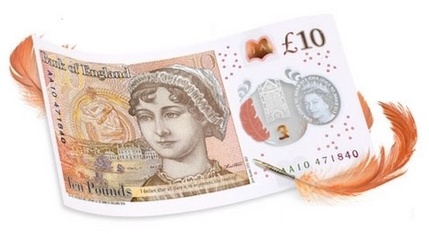 new ten pound note from the Bank of England