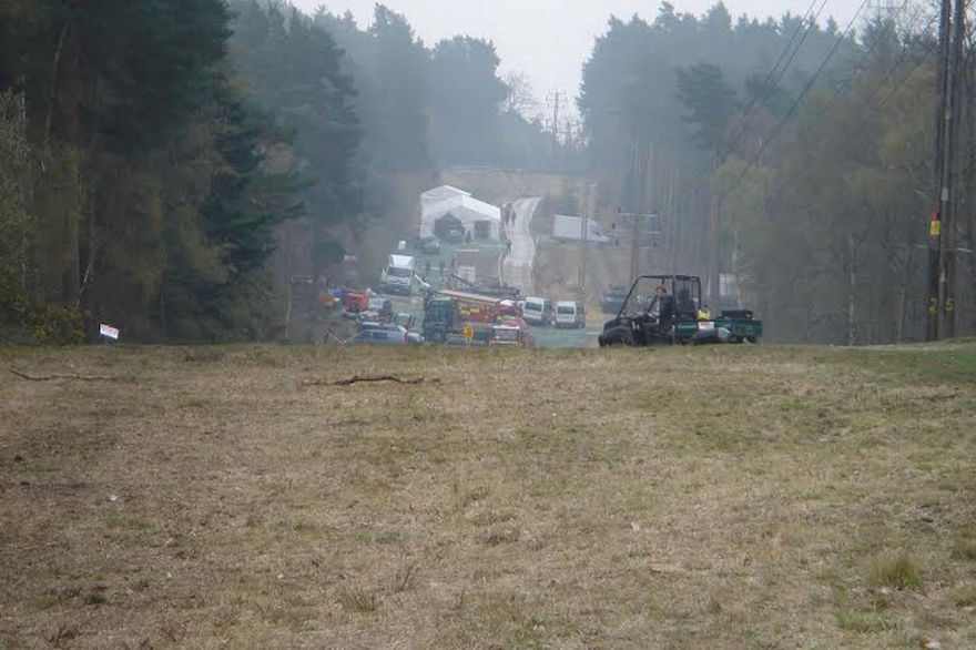 Hawley Woods shoot in Hampshire for Avengers Age of Ultron