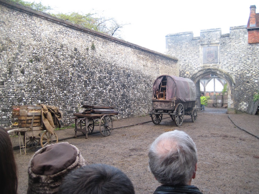 Les Miserables shooting in Winchester Cathedral and Winchester College