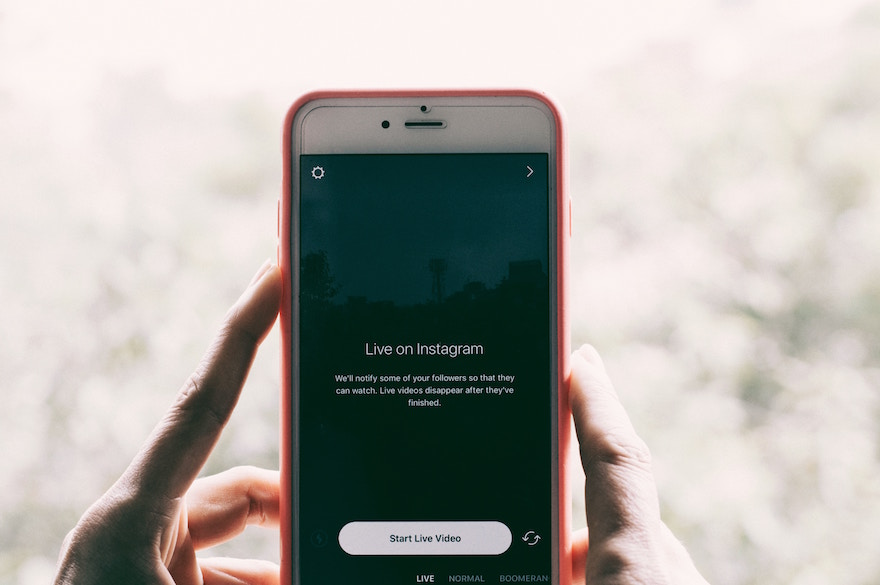 Using video live on Instagram socially