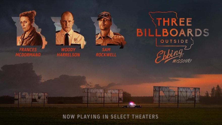 Three Billboards Outside Ebbing Missouri Best Picture Best Actress best Supporting Actor nominee
