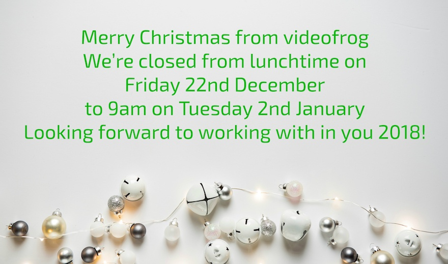 merry christmas and happy new year from videofrog