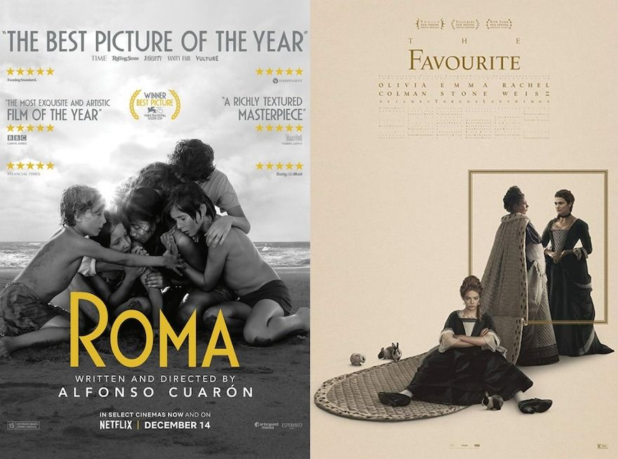 Roma and The Favourite ten nominations each