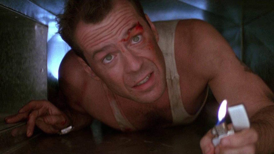 Bruce Willis in Die Hard, the perfect Christmas movie