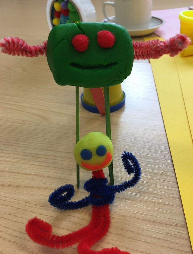 crafting at HackWinchester and creating playdoh chatbots