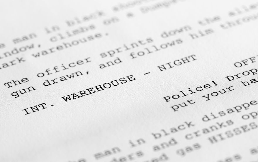 taking your script and creating a shooting script